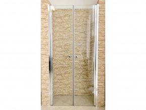Sprchové dvoukřídlé dveře ROSS BERY 130 x 190 cm | czkoupelna.cz