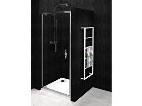 Dveře pivotové 90 GELCO SIGMA SIMPLY 870-910 mm, sklo čiré | czkoupelna.cz