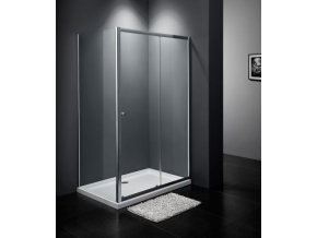 RELAX KOMBI - obdélníkový sprchový kout 125x90 cm, čiré sklo 6 mm | czkoupelna.cz