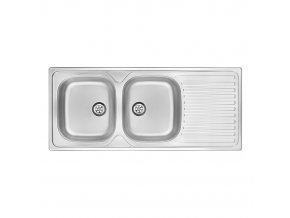 Kuchyňský nerezový dřez Toronto 0210 (116,5x50 cm) | czkoupelna.cz