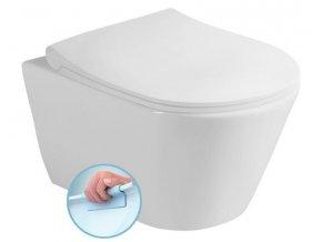 AVVA závěsná WC mísa, Rimless, 35,5x53 cm, bílá | czkoupelna.cz
