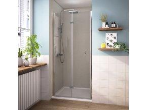 MISTRAL 90 - zalamovací sprchové dveře do niky 86-91 cm | czkoupelna.cz