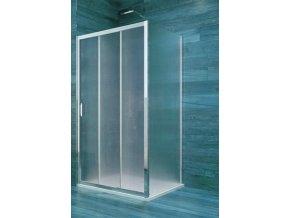 Sprchový obdélníkový kout COOL 80x120x190 cm, trojdílné zasunovací dveře a pevný díl | czkoupelna.cz