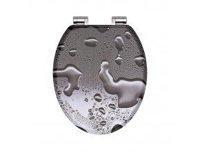 Duroplastové sedátko Grey Steel 80123  se zpomalovacím mechanismem SOFT-CLOSE | czkopupelna.cz