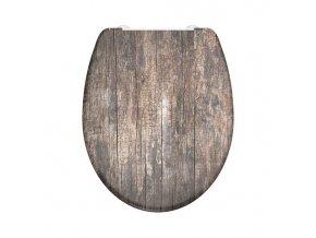 WC prkénko Duroplast Soft Close Old Wood 82368 | czkoupelna.cz