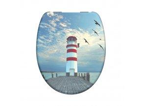 WC prkénko Duroplast Soft Close Lighthouse 82149 | czkoupelna.cz
