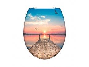 WC prkénko Duroplast Soft Close Sunset Sky 82378 | czkoupelna.cz