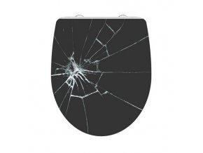 WC prkénko Duroplast Soft Close Broken Glas High Gloss 82585  | czkoupelna.cz
