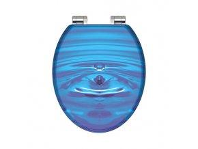WC prkénko MDF Soft Close Blue Drop 80125 | czkoupelna.cz