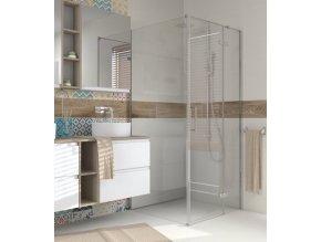 CERSANIT - Sprchový kout JOTA čtverec 90x195, kyvný, pravý, čiré sklo S160-002  Lze instalovat na vaničku nebo přímo na podlahu