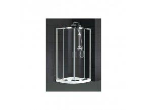 Čtvrtkruhový sprchový kout HOPA MURCIA sklo Čiré (Rozměr 90 cm)