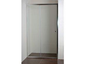 ONYX 130 NEW Sprchové posuvné dveře do niky 126 - 131 cm  čiré bezpečnostní sklo 5 mm