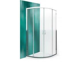 llr2 ctvrtkruhovy sprchovy kout s dvoudilnymi posuvnymi dvermi