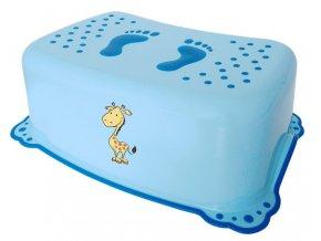 Dětské protiskluzové stupátko do koupelny Žirafa, modrá