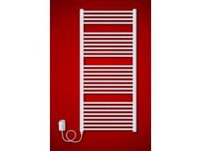 BK.ER 450 x 960 mm elektrický koupelnový topný žebřík  s regulátorem teploty, rovný