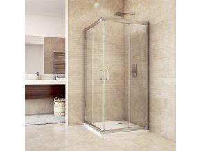 Sprchový kout, Mistica Exclusive, čtverec, 80 cm, chrom.profily, sklo Čiré (CK608A33H) | czkoupelna