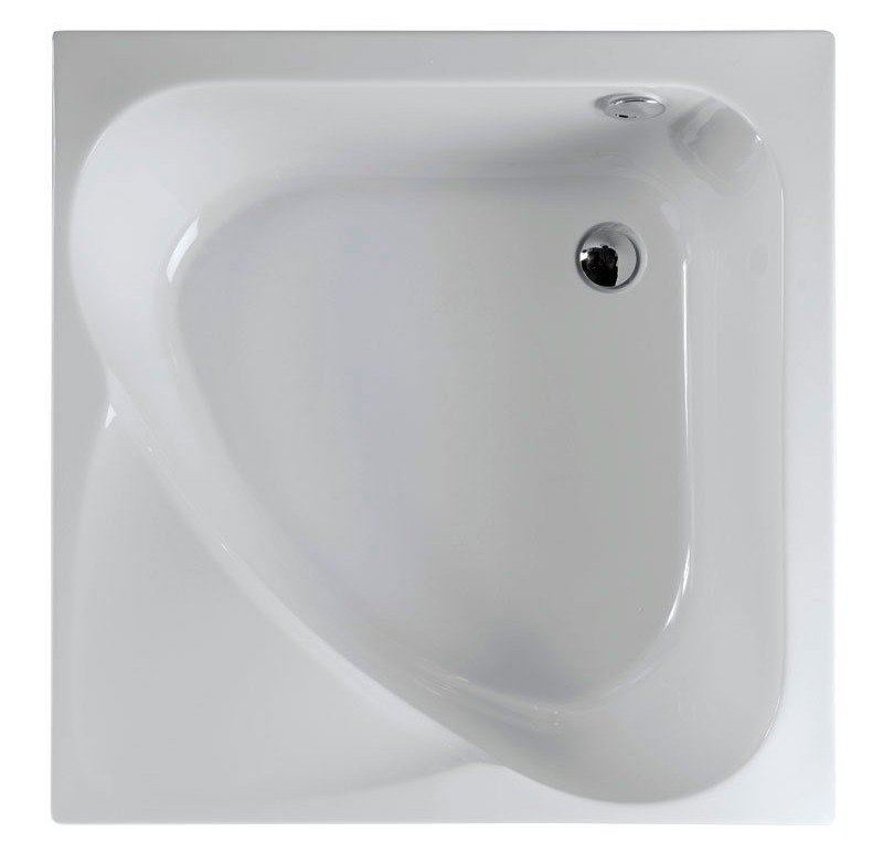 Polysan CARMEN sprchová vanička čtvercová, hluboká s podstavcem, 90x90x30cm, bílá