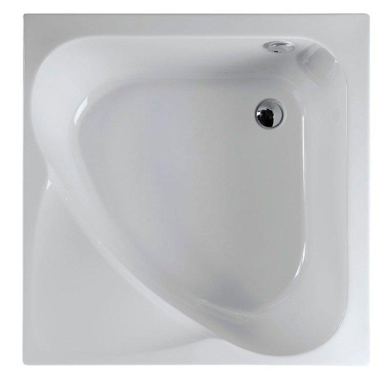 Polysan CARMEN sprchová vanička čtvercová, hluboká s konstrukcí, 90x90x30cm, bílá