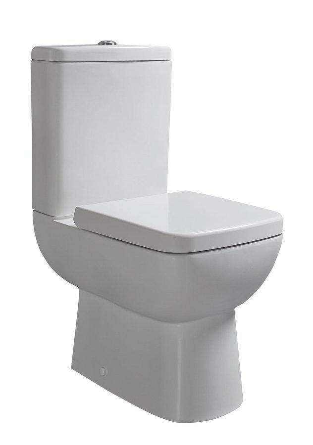 Sapho TYANA SHORT WC kombi vč. Soft Close sedátka a splach. mech., spodní/zadní odpad