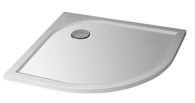 Arttec BRILIANT 90 clear sprchový kout + vanička litý mramor - SET Otvor pro sifon: Střed