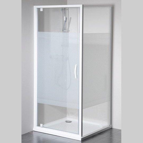 Gelco Eterno čtvercový sprchový kout 900x900mm L/P varianta, sklo Strip