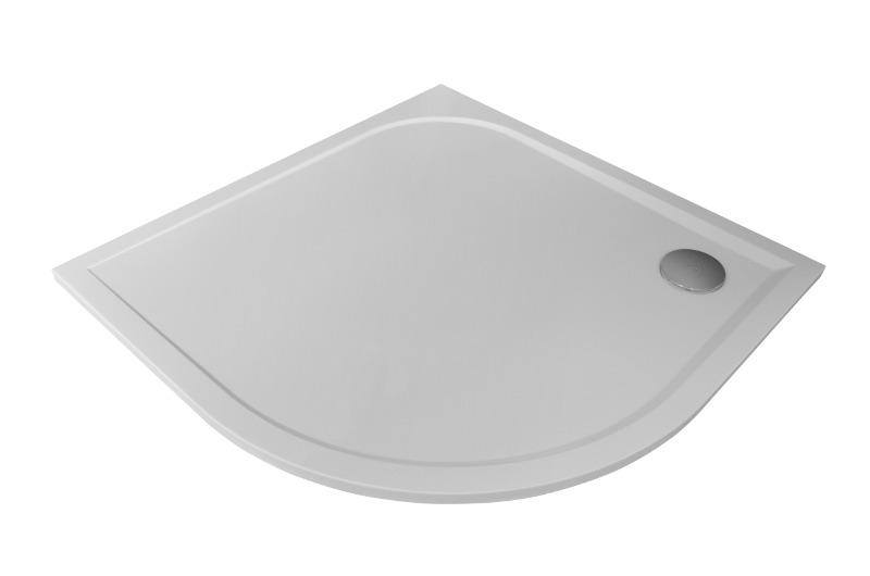 Arttec STONE 8080R - sprchová vanička čtvrtkruhová