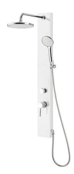AQUALINE FIGA sprchový panel, 125x1050 mm, bílá