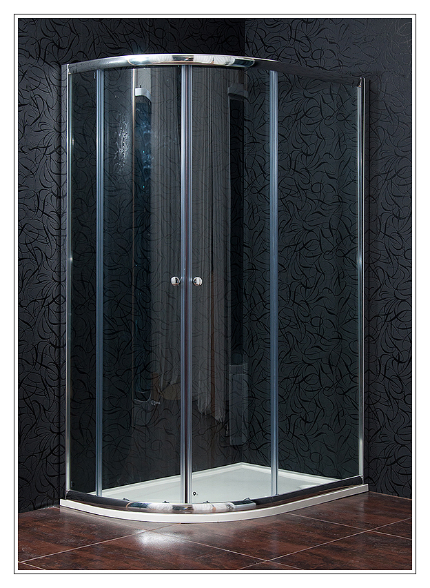Arttec KLASIK NEW 80 x 110 cm, sprchový kout pravý, čiré sklo + vanička litý mramor