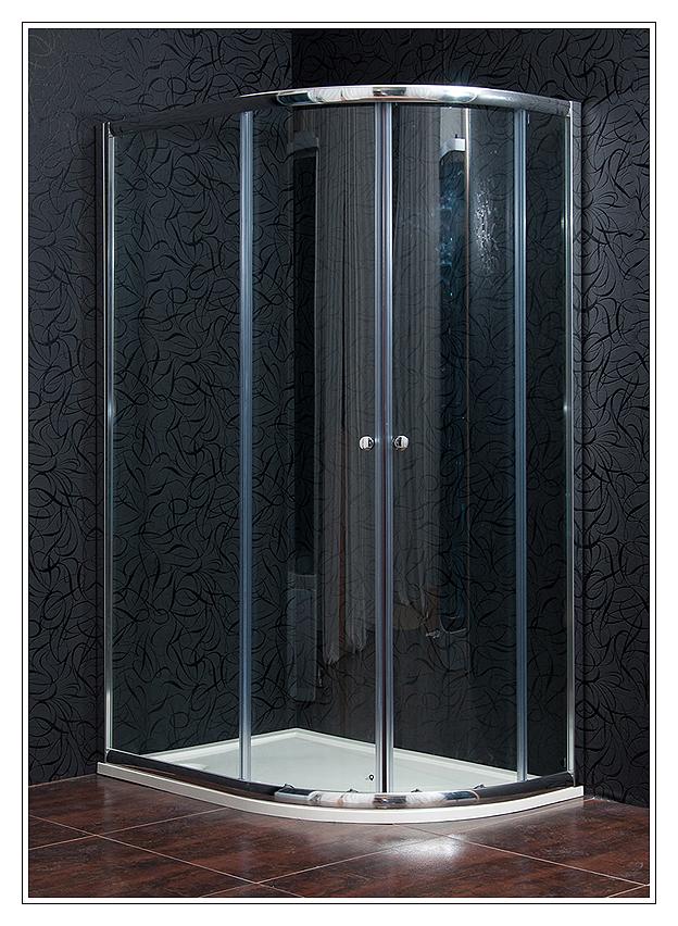 Arttec KLASIK NEW 90 x 120 cm, sprchový kout levý, sklo čiré + vanička litý mramor