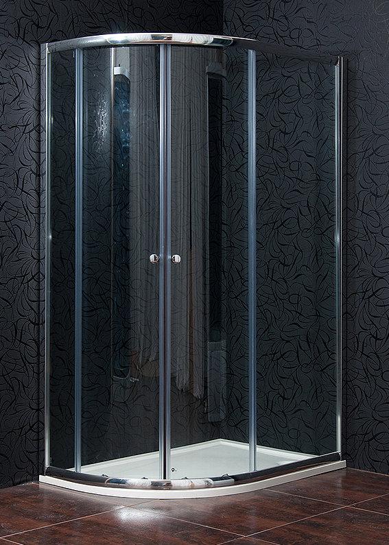 Arttec KLASIK NEW 80 x 100 cm, sprchový kout pravý, čiré sklo + vanička litý mramor
