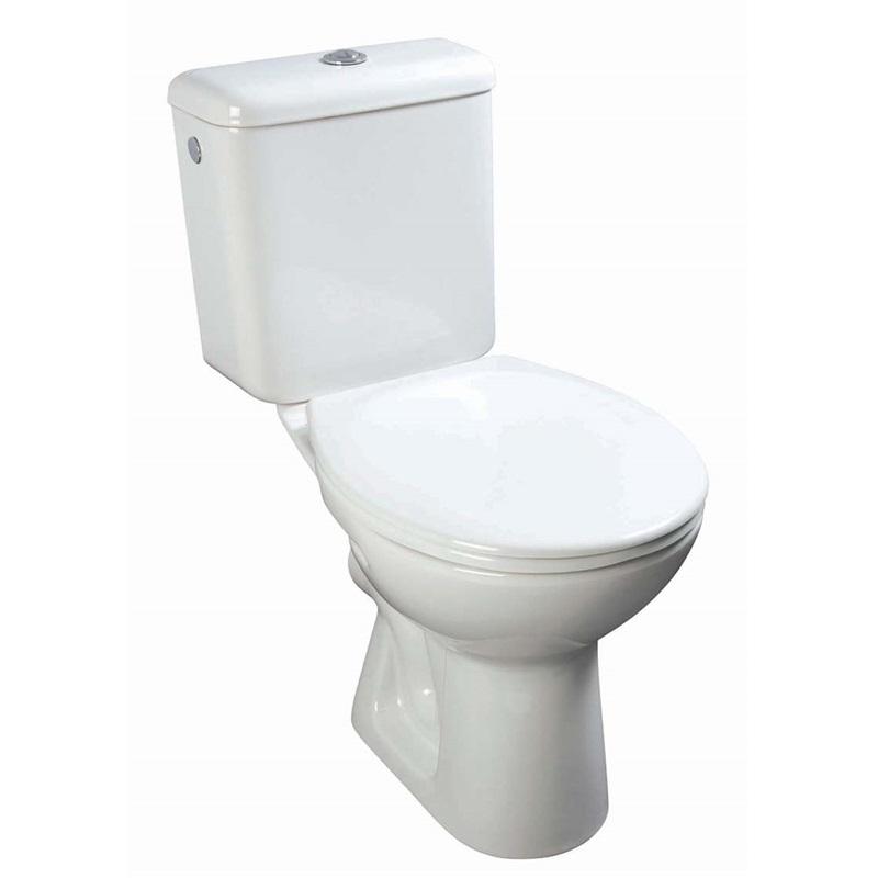 Mereo WC KOMBI zadní odpad s armaturou dvojité splachování, vč. Sedátka