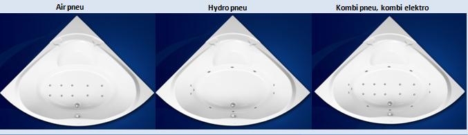 Excel HYDROMASÁŽNÍ VÍŘIVÁ VANA ATHÉNA HYDRO PNEU 150 X 150 cm