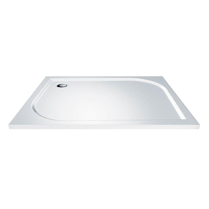Mereo CV 78M Vanička sprchová litá, bílá, obdélníková, 100 x 80 x 3 cm