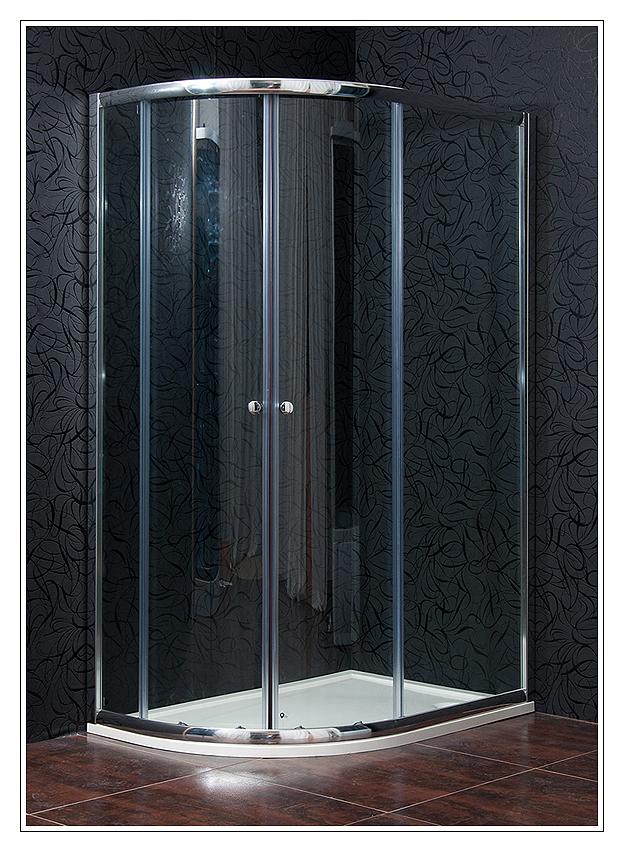 KLASIK 80x110 Clear - sprchová zástěna čtvrtkruhová - Arttec