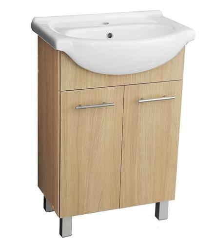A-interiéry Ema 55 - koupelnová skříňka závěsná s keramickým umyvadlem