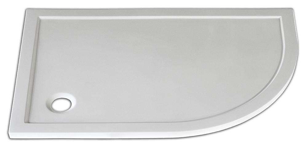 Arttec STONE 1280R L - sprchová vanička čtvrtkruhová levá