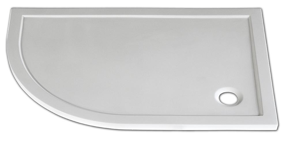 Arttec STONE 1280R P - sprchová vanička čtvrtkruhová pravá