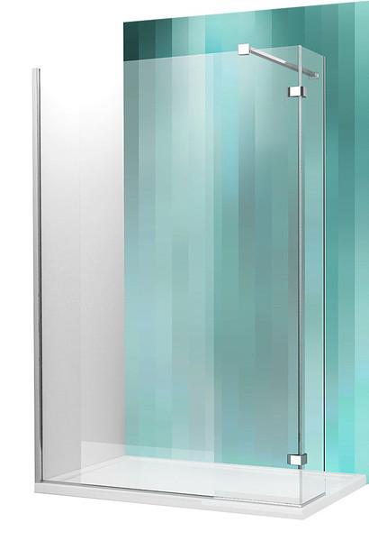 Roltechnik WALK IN C, 100 cm, velkoprostorový sprchový kout, profil brillant, sklo transparent