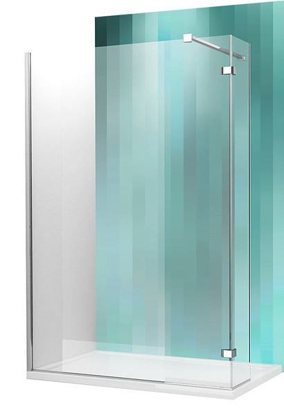 Roltechnik WALK IN C, 150 cm, velkoprostorový sprchový kout, profil brillant, sklo transparent