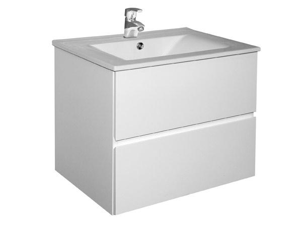 A-interiéry Brunette 75 - koupelnová skříňka s umyvadlem