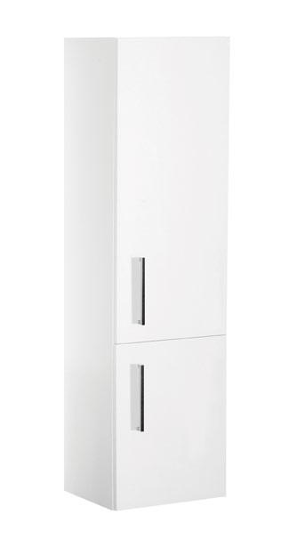 A-interiéry Trento W V 40 P/L bílá - koupelnová doplňková skříňka závěsná vysoká