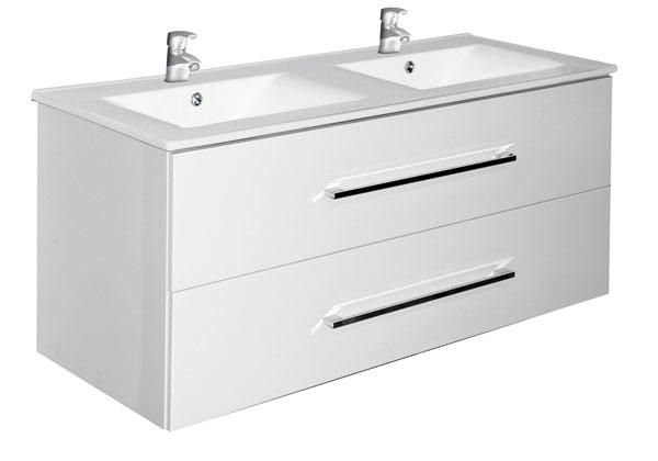 A-interiéry Trento W 120 bílá - koupelnová skříňka s umyvadlem