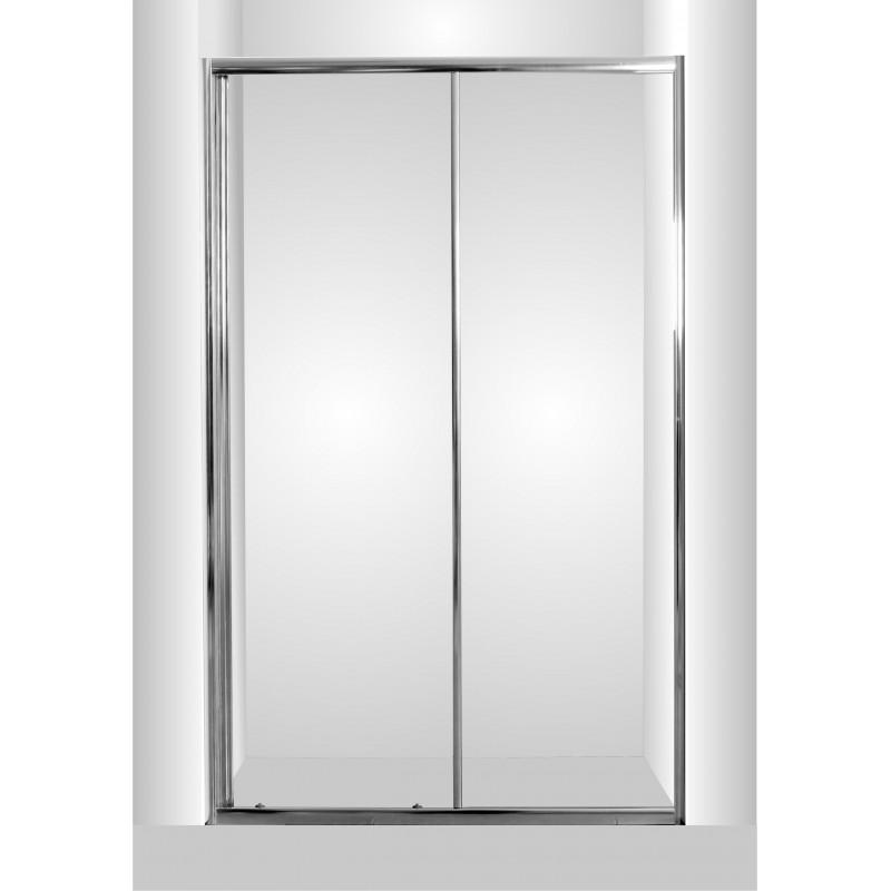 Olsen Spa Sprchové dveře do niky SMART - SELVA - 140 x 190 cm Bez vaničky, Hliník chrom, 6mm čiré