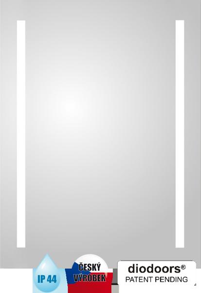 Hopa Obdélníkové zrcadlo Labe s LED osvětlením rozměr 600 × 1200 mm (v × š)