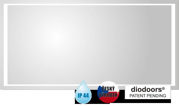 Hopa Obdélníkové zrcadlo VLTAVA s LED osvětlením rozměr 800 × 600 mm (v × š)