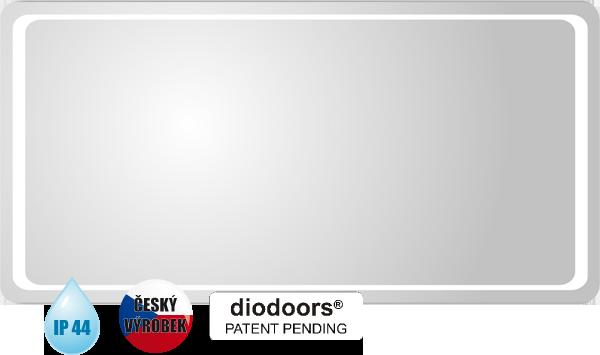 Hopa Obdélníkové zrcadlo ODRA s LED osvětlením rozměr 600 × 1200 mm (v × š)