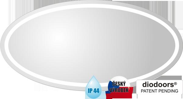 Hopa Obdélníkové zrcadlo BEČVA s LED osvětlením rozměr 600 × 1200 mm (v × š)