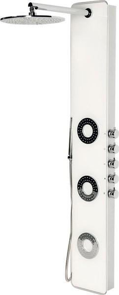SAPHO - IDESK sprchový panel 1550 x 250 mm, bílé sklo (WN765)