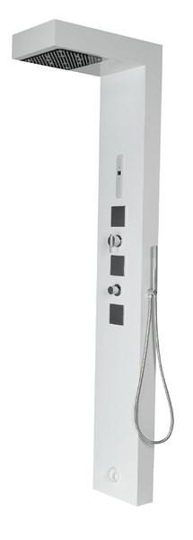 SAPHO - STEAM CUBE parní sprchový panel 220 x 32 cm, bílá (80810)