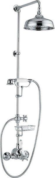 SAPHO LONDON sprchový sloup s termostatickou baterií, mýdlenka, výška 1250mm, chrom